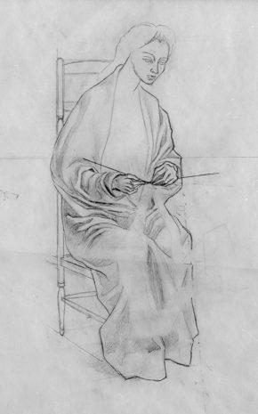 La Tejedora de Verona (Dibujo Previo I), 1956.