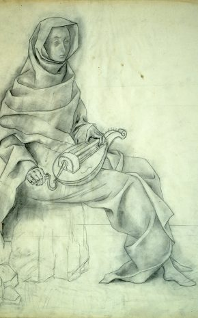Vuelo Mágico o Zanfonía (Dibujo Previo), 1956.