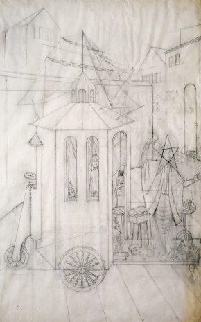 El Malabarista o el Juglar (Dibujo Previo I), 1956.