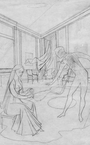 Les Feuilles Mortes (Dibujo Previo), 1956.