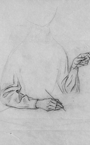 Creación de las Aves (Dibujo Previo II), 1957.