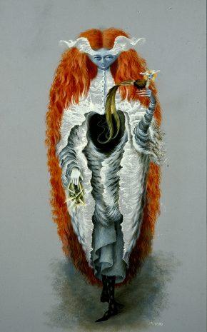 Bruja que va al Sabath, 1957.