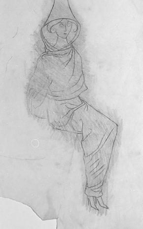 Tailleur Pour Dames (Dibujo Previo III), 1957.