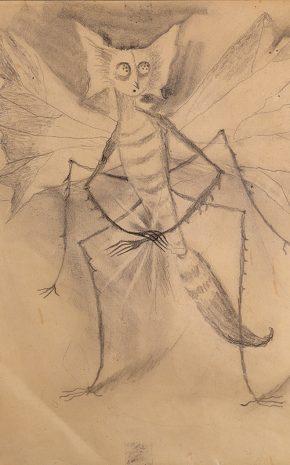 La Abeja Adolorida (Dibujo Previo), 1957.