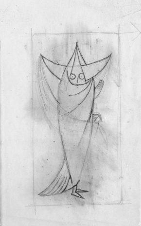 Carta de Tarot (Boceto), 1957.