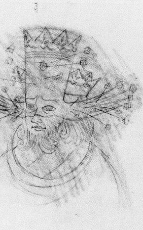 El Rey (Dibujo Previo), 1958.