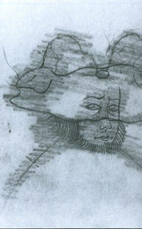 El Labrador (Dibujo previo), 1958.
