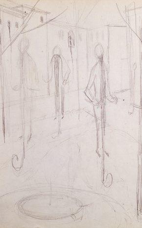 Locomoción Capilar (Dibujo Previo II), 1959.