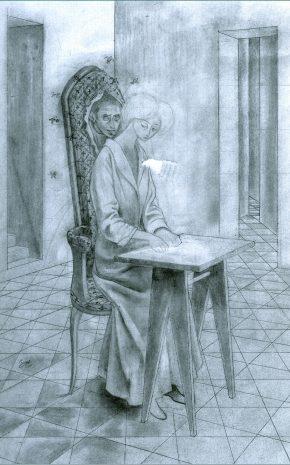 Presencia Inquietante (Dibujo Previo), 1959.
