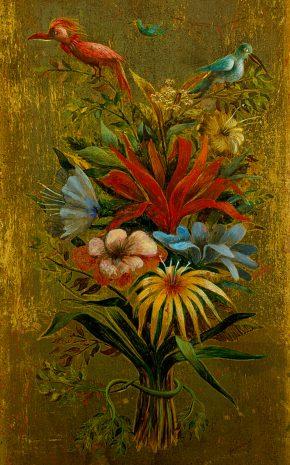 Ramo Floral con Pájaros, 1960.