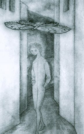 Niño y Mariposa (Dibujo Previo), 1961.