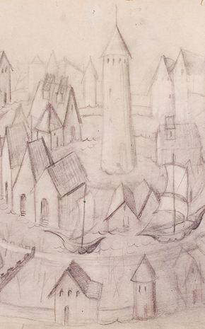 Tránsito en Espiral (Dibujo Previo), 1962.