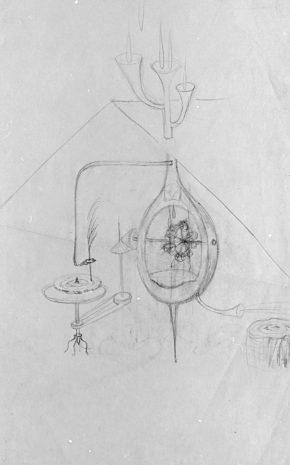 Música del Bosque (Dibujo Previo), 1963.