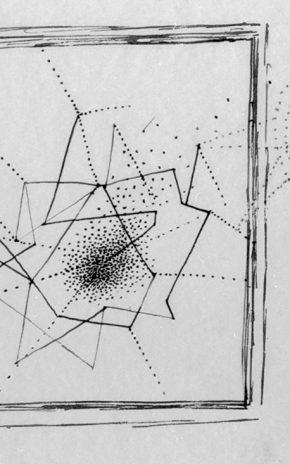 El Flautista (Dibujo Previo), 1955.