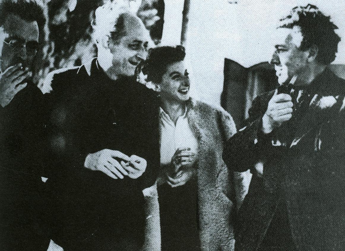 (Foto: Benjamin Peret, Remedios y Andre Breton en Marsella)