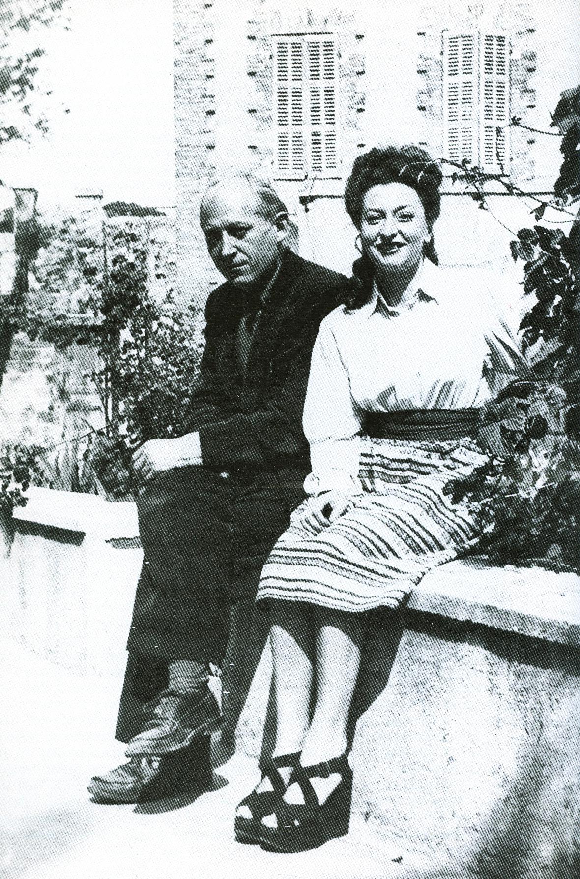 (Foto: Remedios y Benjamin Peret en México - 1941)