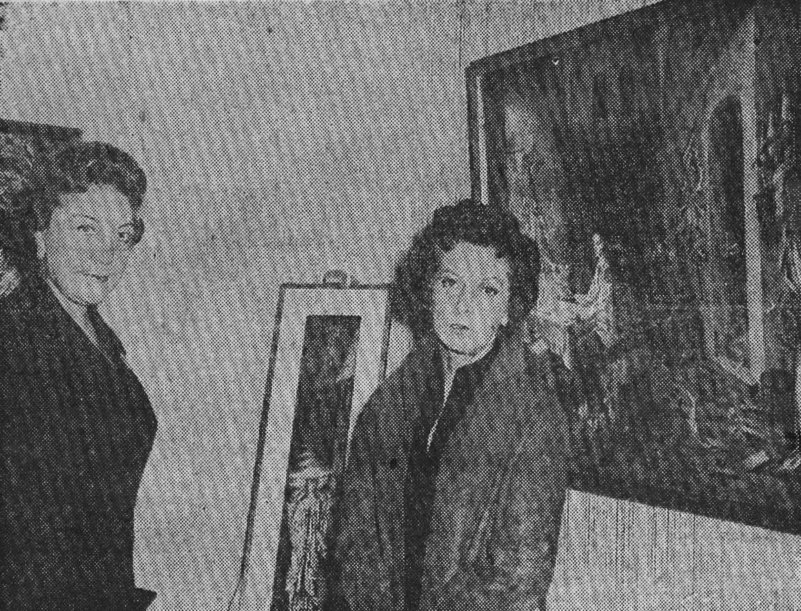 (Foto: Salón de la Pintura Femenina. Amalia Castillo Ledón y Remedios Varo - 1958)
